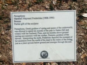 Persephone Plaque